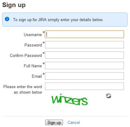 enabling public signup and captcha atlassian documentation