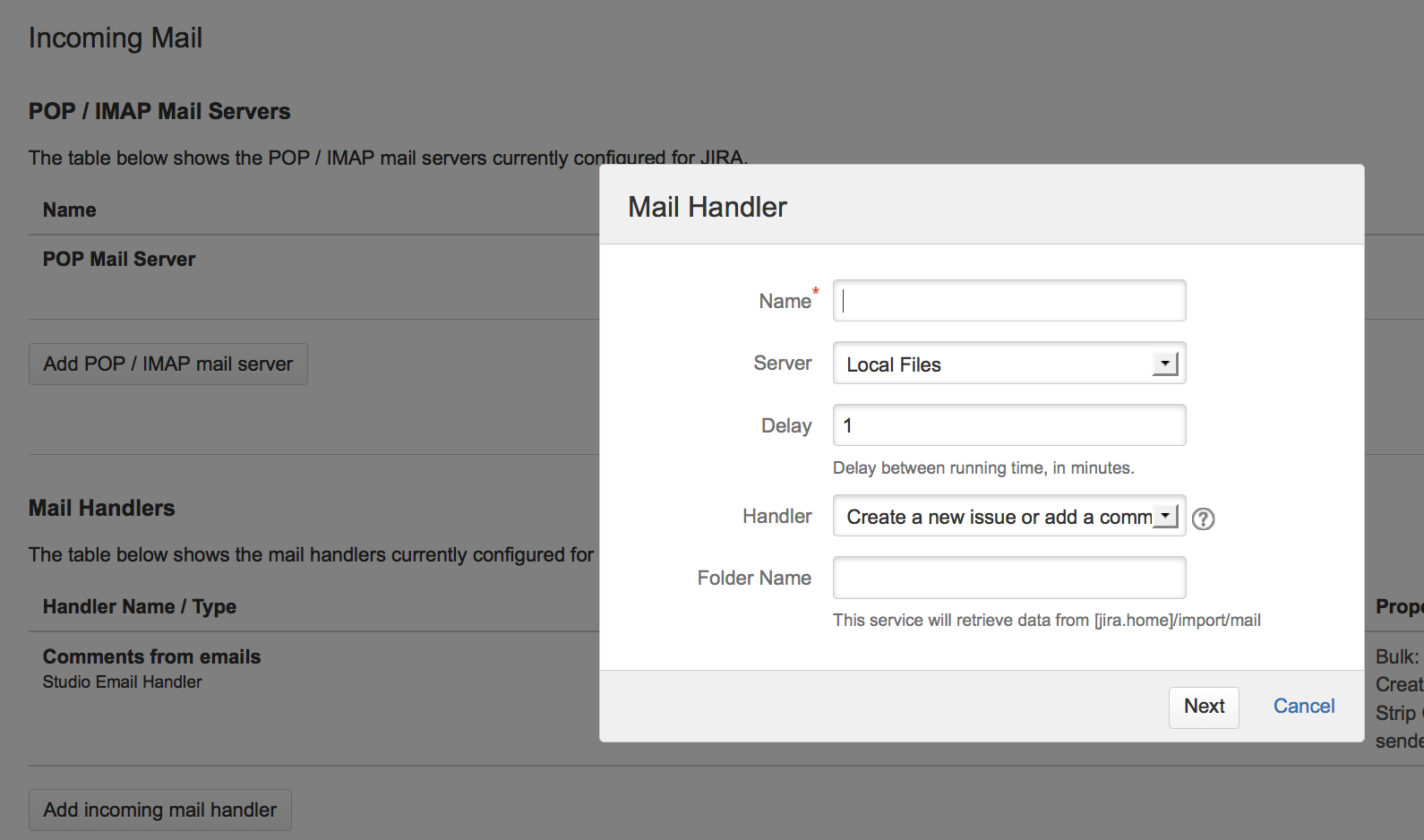 Click The Add Incoming Mail Handler Button (or The Edit Link Next To An  Existing Mail Handler) In The Mail Handlers Section To Open The Mail  Handler Dialog