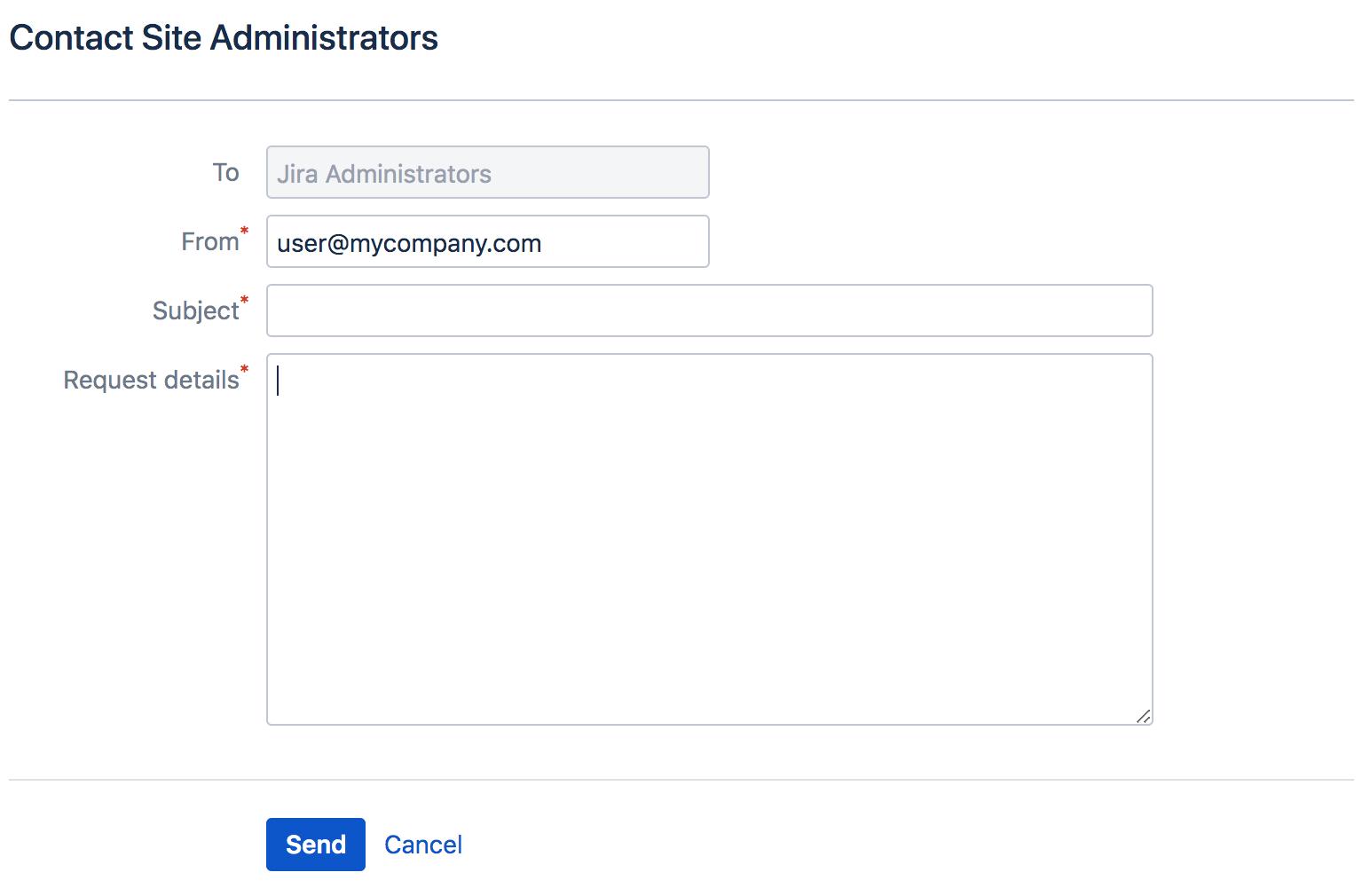 サイト管理者への問い合わせフォーム。