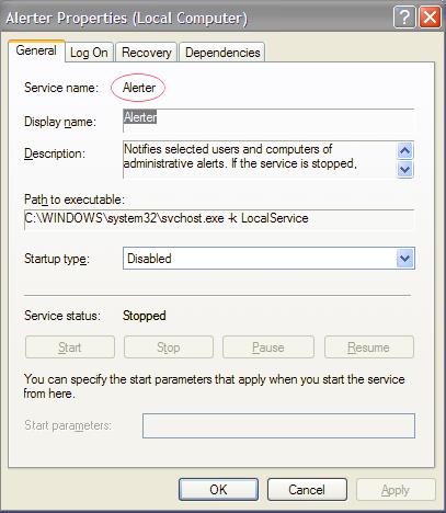 サービス名を選択した状態のサービスの詳細。
