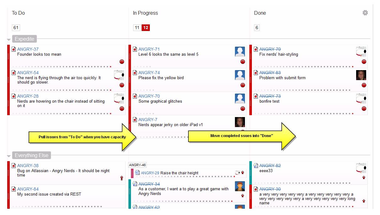 tutorial   tracking a kanban team   atlassian documentationkanban process