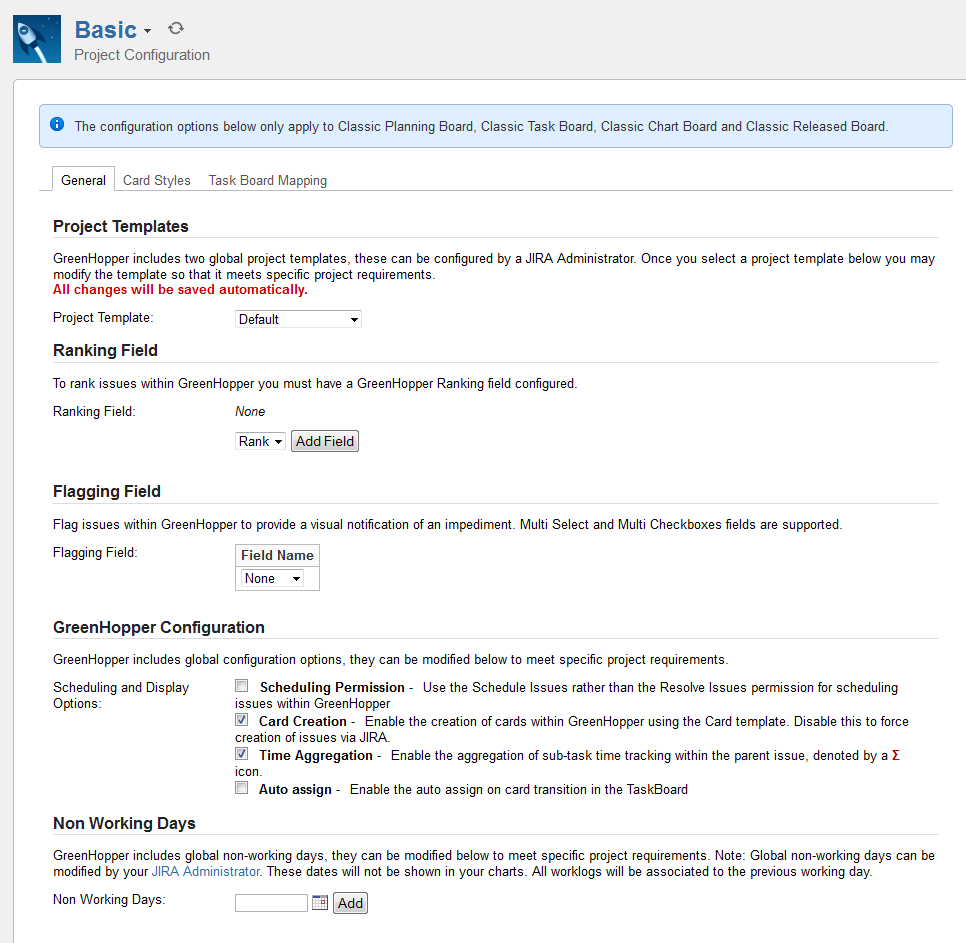 Configuring Your General Project Settings Atlassian