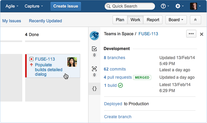 Git software development process with JIRA