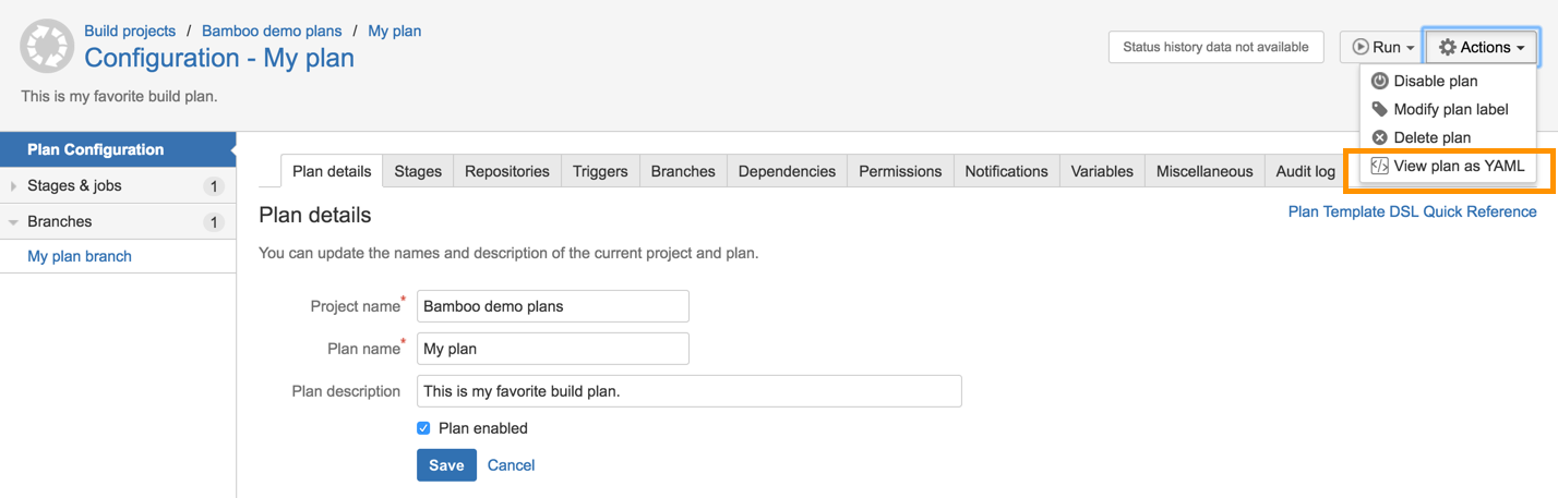 Configuring plans - Atlassian Documentation