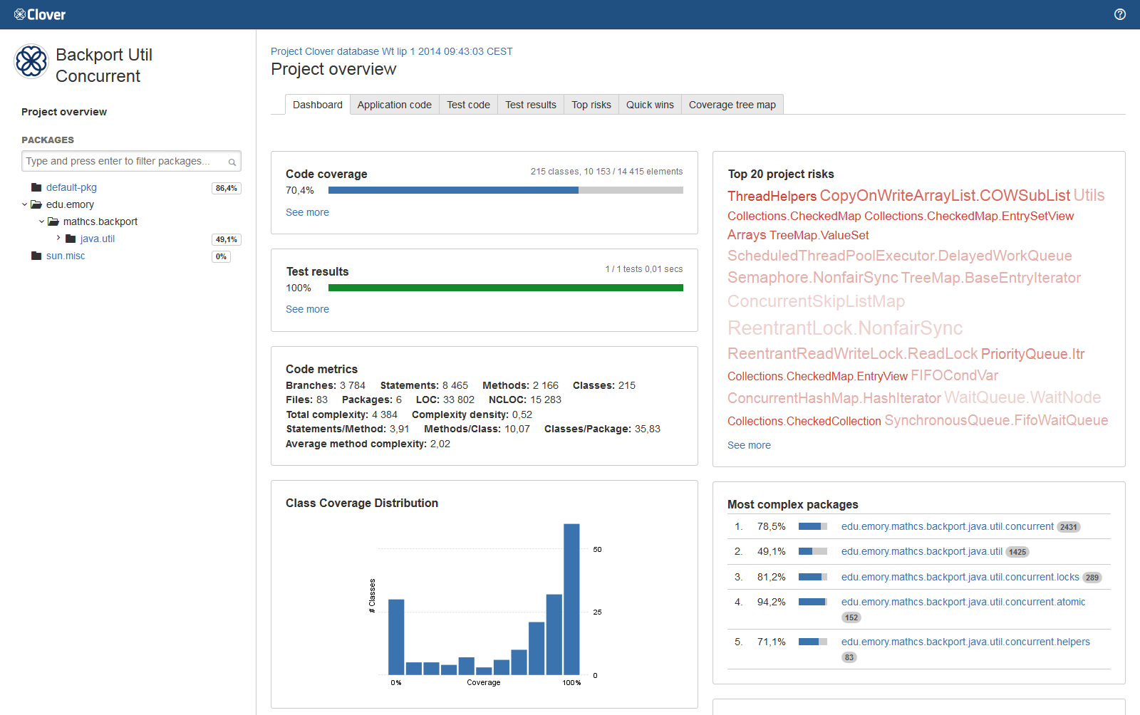 Viewing the Clover code-coverage for a build - Atlassian