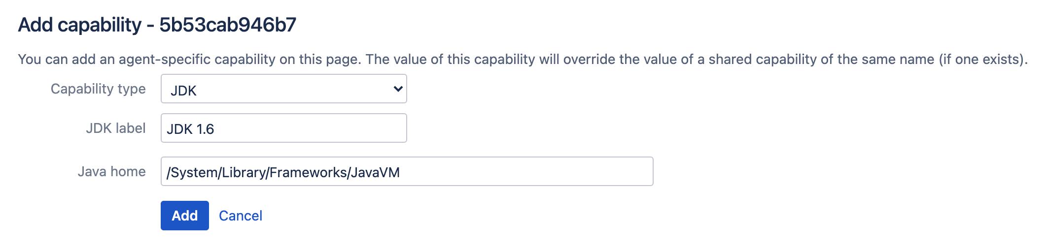 JDK new capability configuration