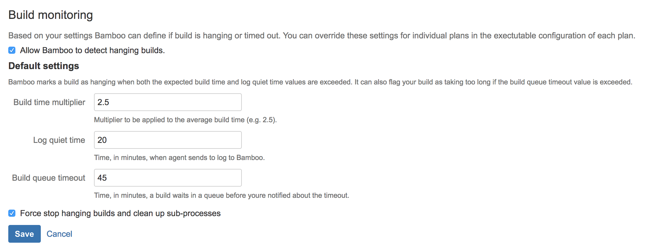 Build monitoring - Atlassian Documentation