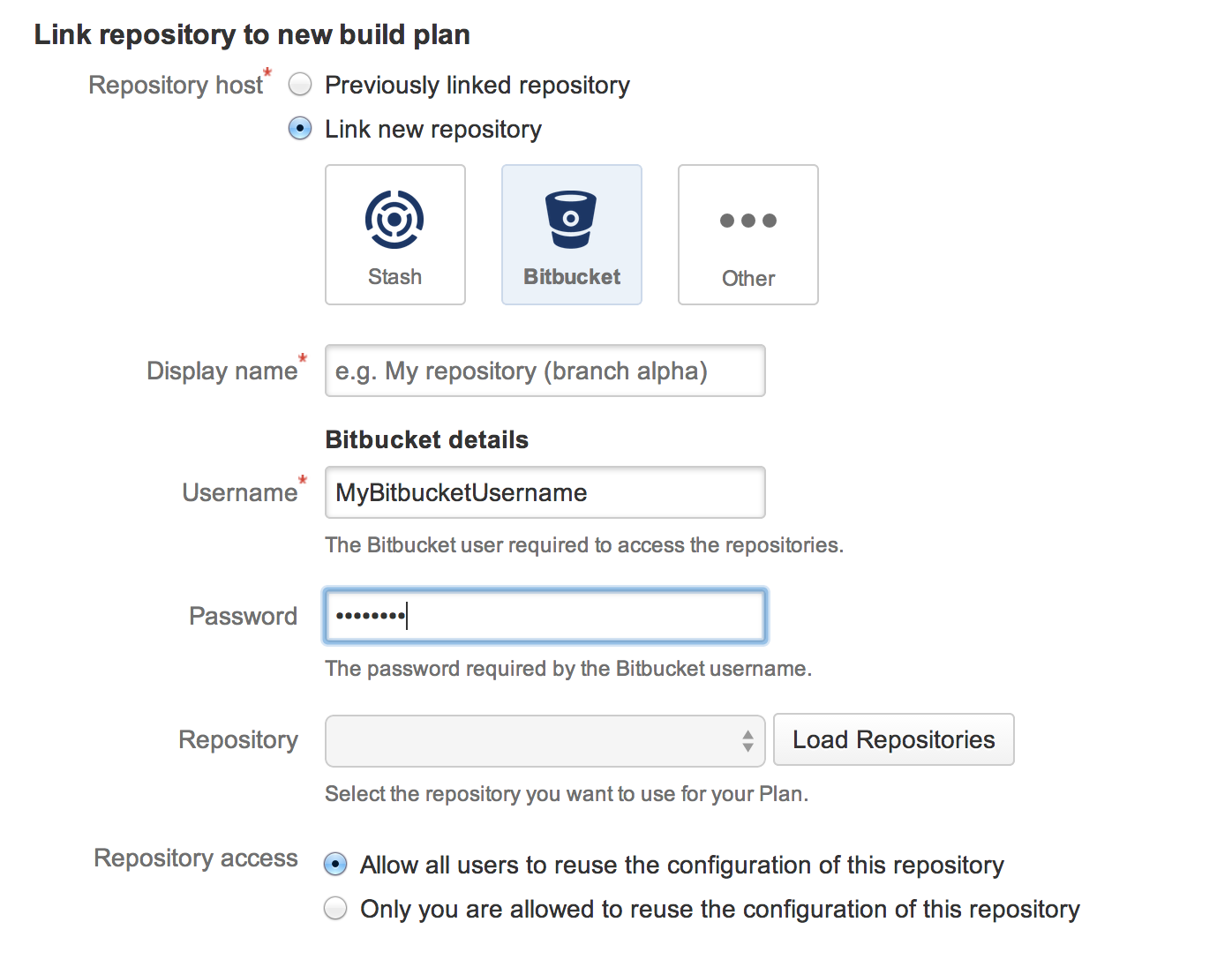 Getting started with java and bamboo atlassian documentation 2 connect to a source repository baditri Images