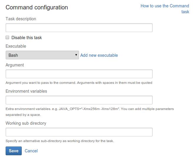 Custom command executable - Atlassian Documentation