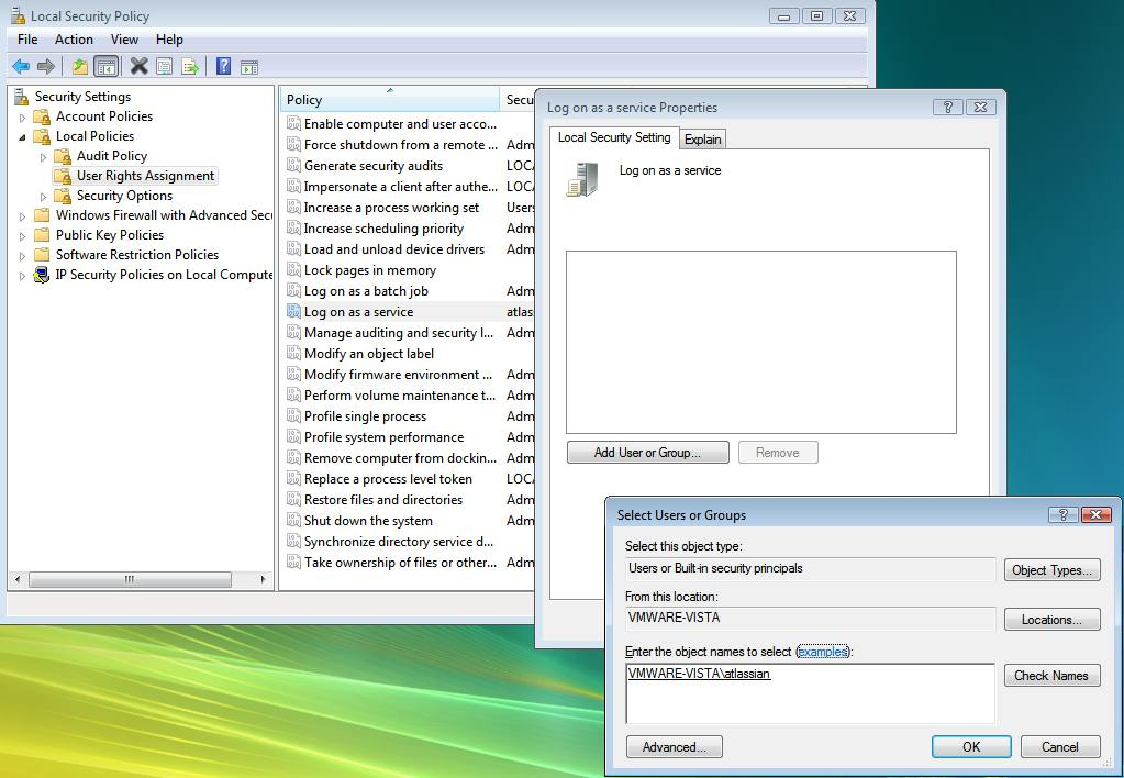 Running Bamboo as a Windows service as the local user - Atlassian