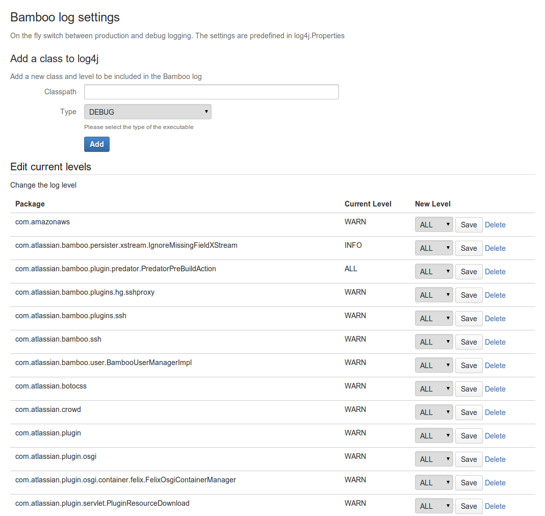 Logging in Bamboo - Atlassian Documentation