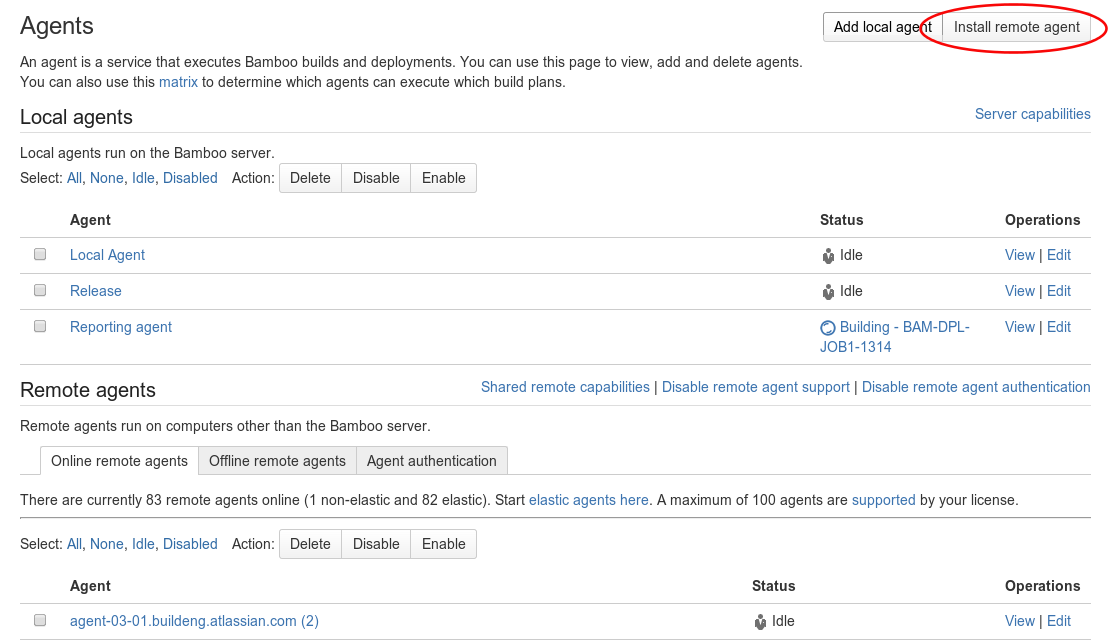 Bamboo Best Practice - Using Agents - Atlassian Documentation
