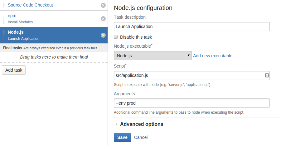 Getting started with Node js and Bamboo - Atlassian Documentation