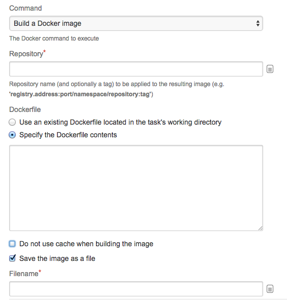 Configuring the Docker task in Bamboo - Atlassian Documentation