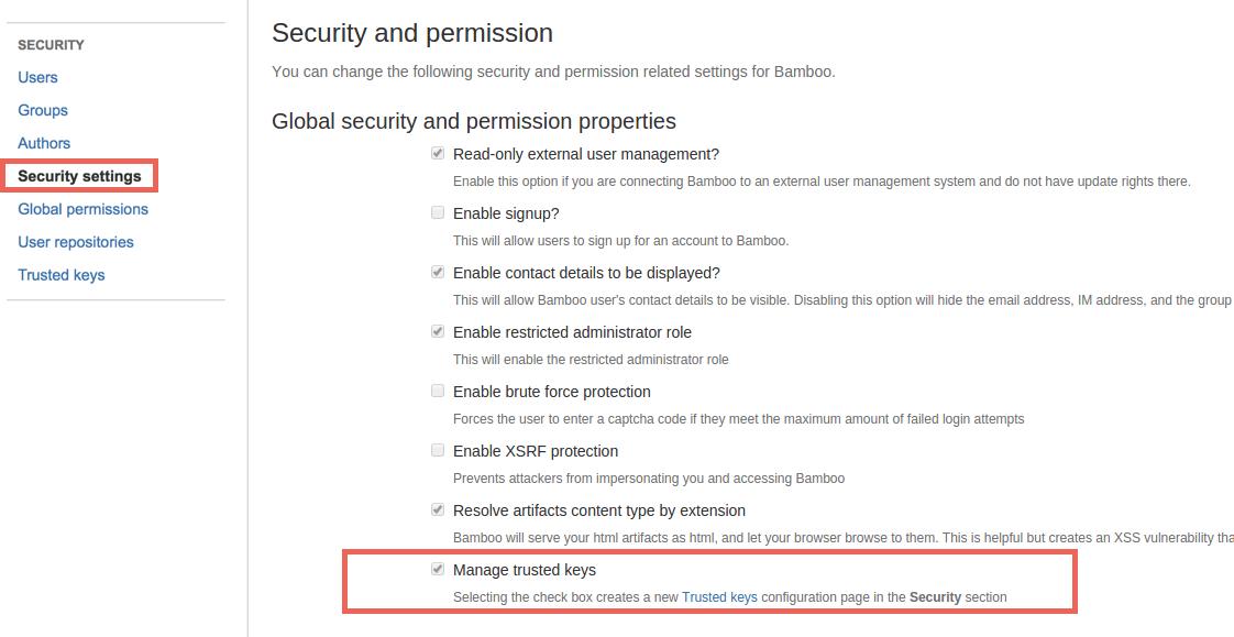 Managing Trusted Keys Atlassian Documentation