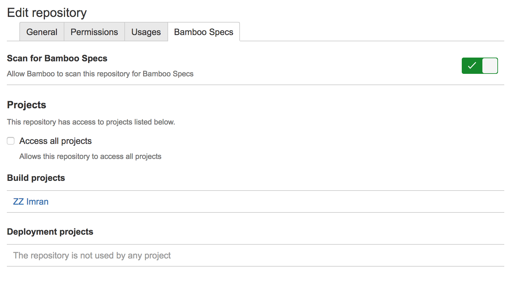 Enabling Repository Stored Bamboo Specs Atlassian Documentation