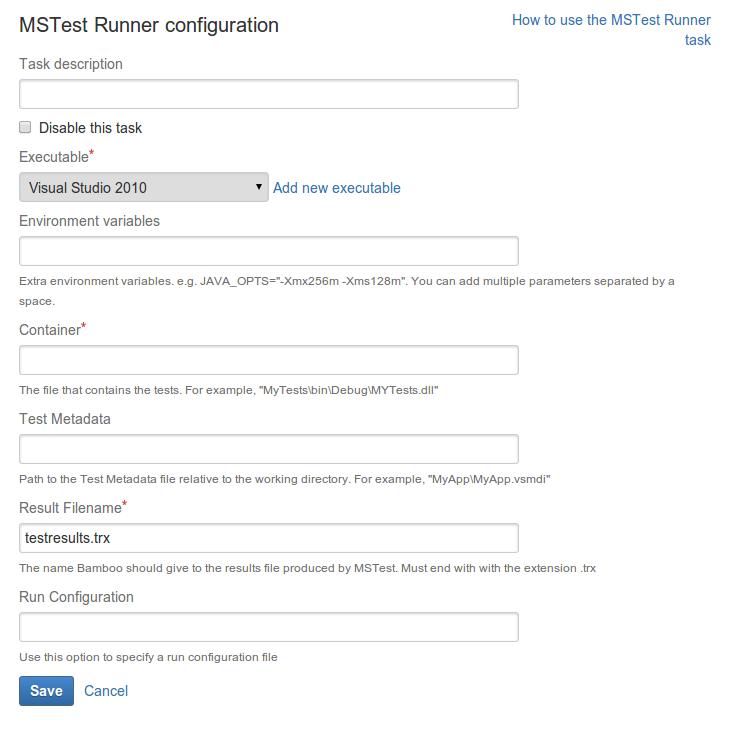 MSTest Runner - Atlassian Documentation