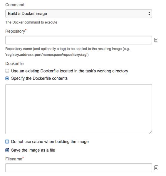 Configuring the Docker task in Bamboo - Atlassian Documentation