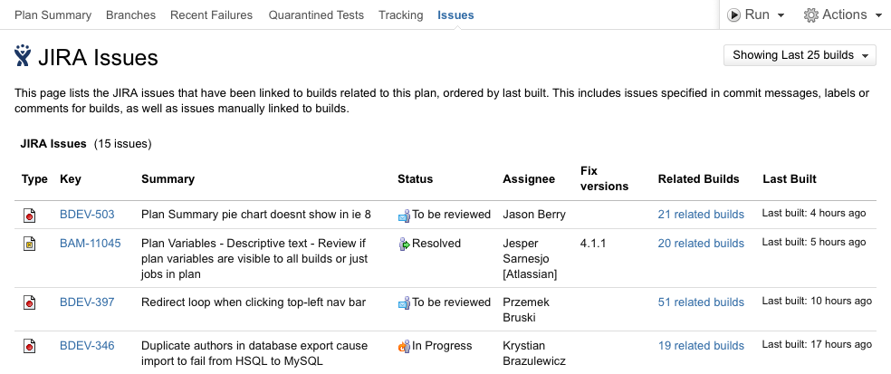 viewing linked jira application issues atlassian documentation