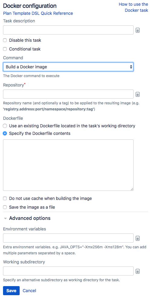 Building a Docker image in Bamboo - Atlassian Documentation