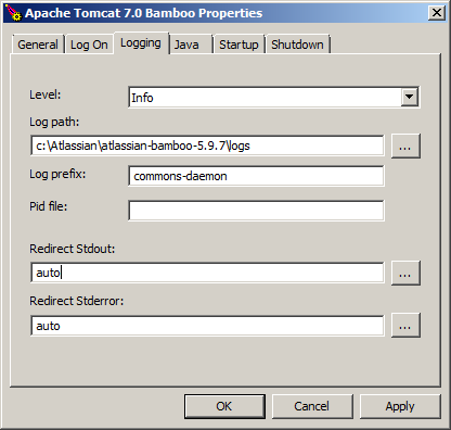 How to disable bamboo-stdout and bamboo-stderr logging on Windows