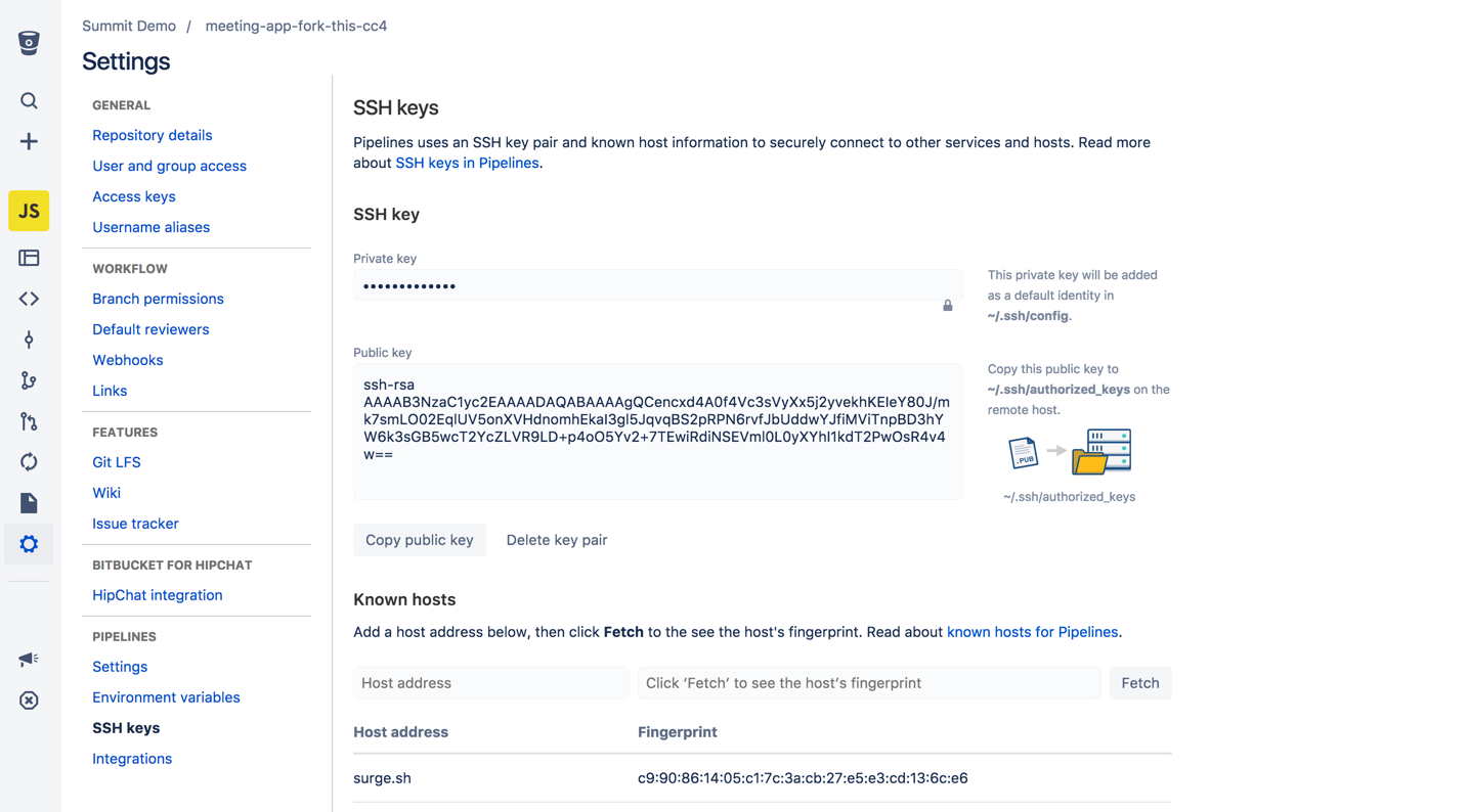 Use Ssh Keys In Bitbucket Pipelines Atlassian Documentation