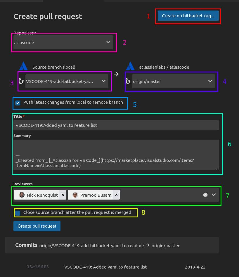 Bitbucket pull requests in VSCode - Atlassian Documentation