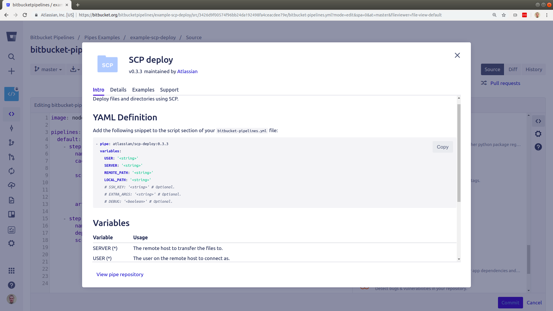 Deploy using SCP - Atlassian Documentation