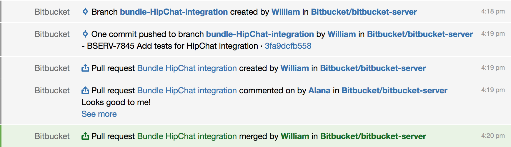 hipchat notifications atlassian documentation here s an example of what you might see from an atlassian hipchat room