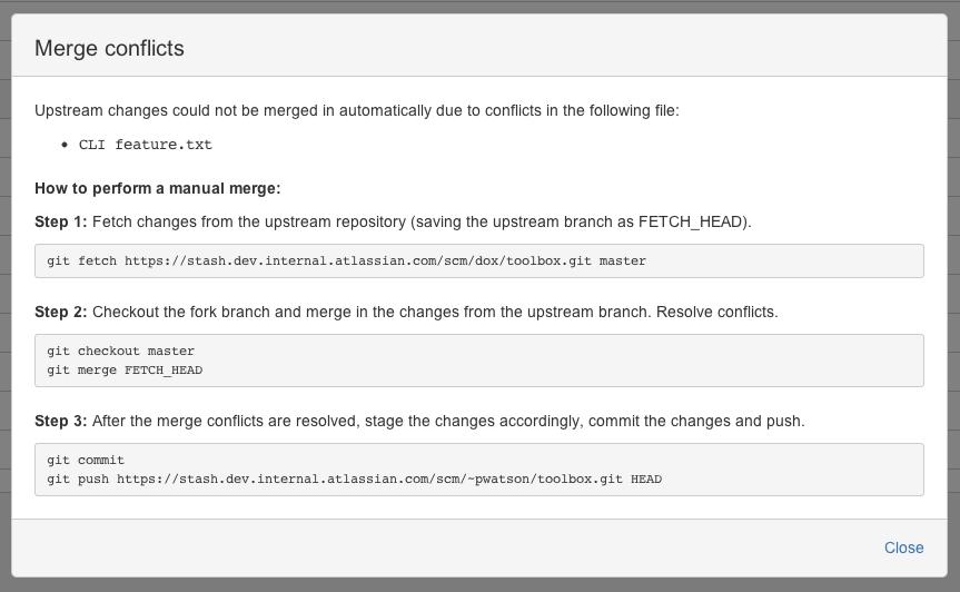 Keeping forks synchronized - Atlassian Documentation