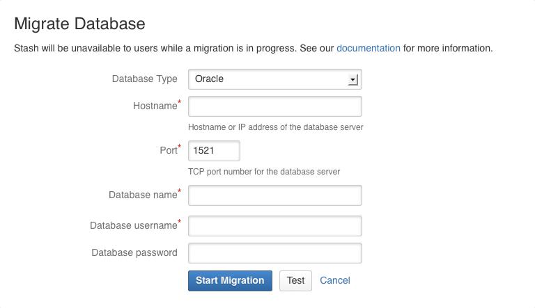 Connecting Bitbucket Server to Oracle - Atlassian Documentation