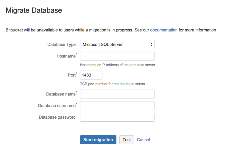 Connecting Bitbucket Server to SQL Server - Atlassian