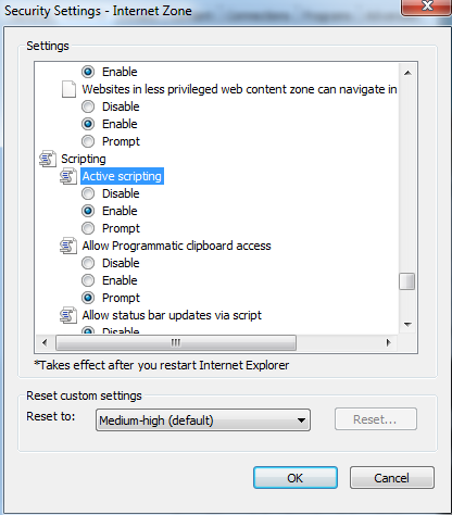 Capture For Jira Doesnt Work In Ie Due To Security Settings