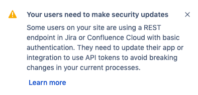 Deprecation of basic authentication with passwords for Jira and