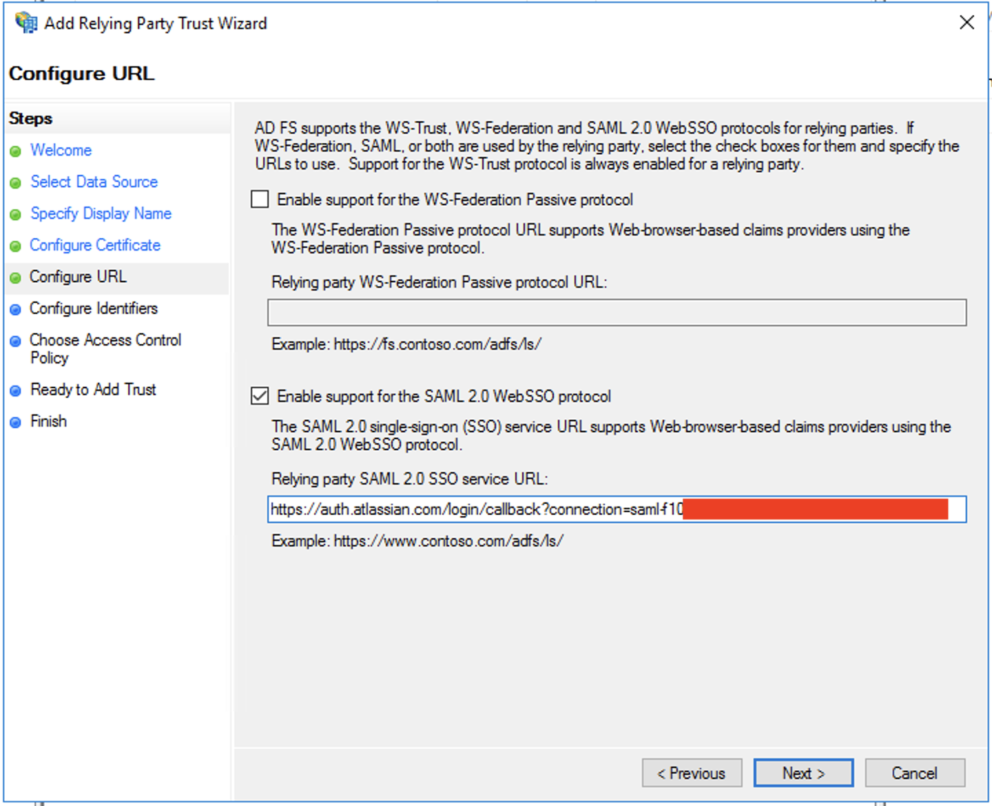 Configure SAML single sign-on with Active Directory