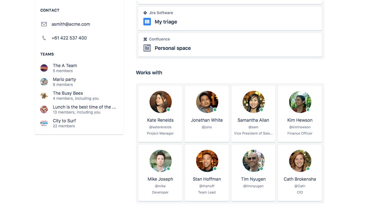 Your personal profile - Atlassian Documentation