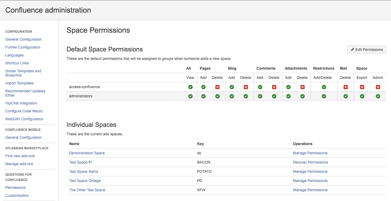 How To Give a User or Group 'Admin' Permissions to All Spaces