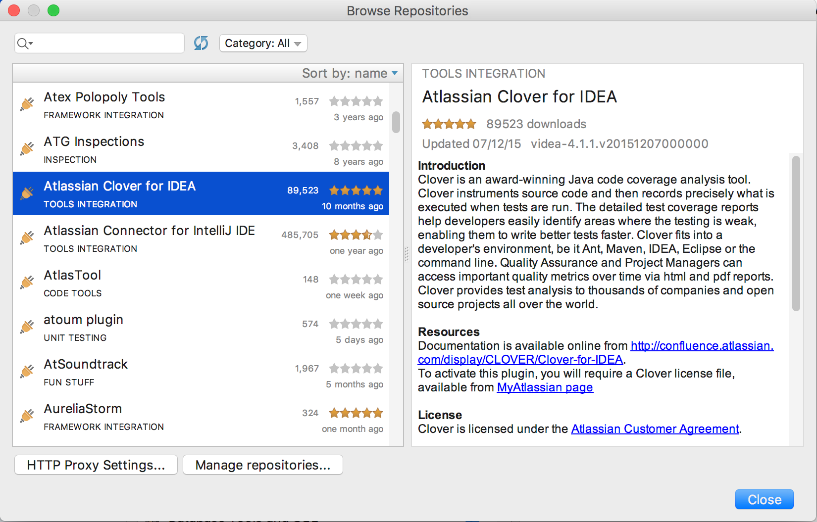 Clover-for-IDEA Installation Guide - Atlassian Documentation