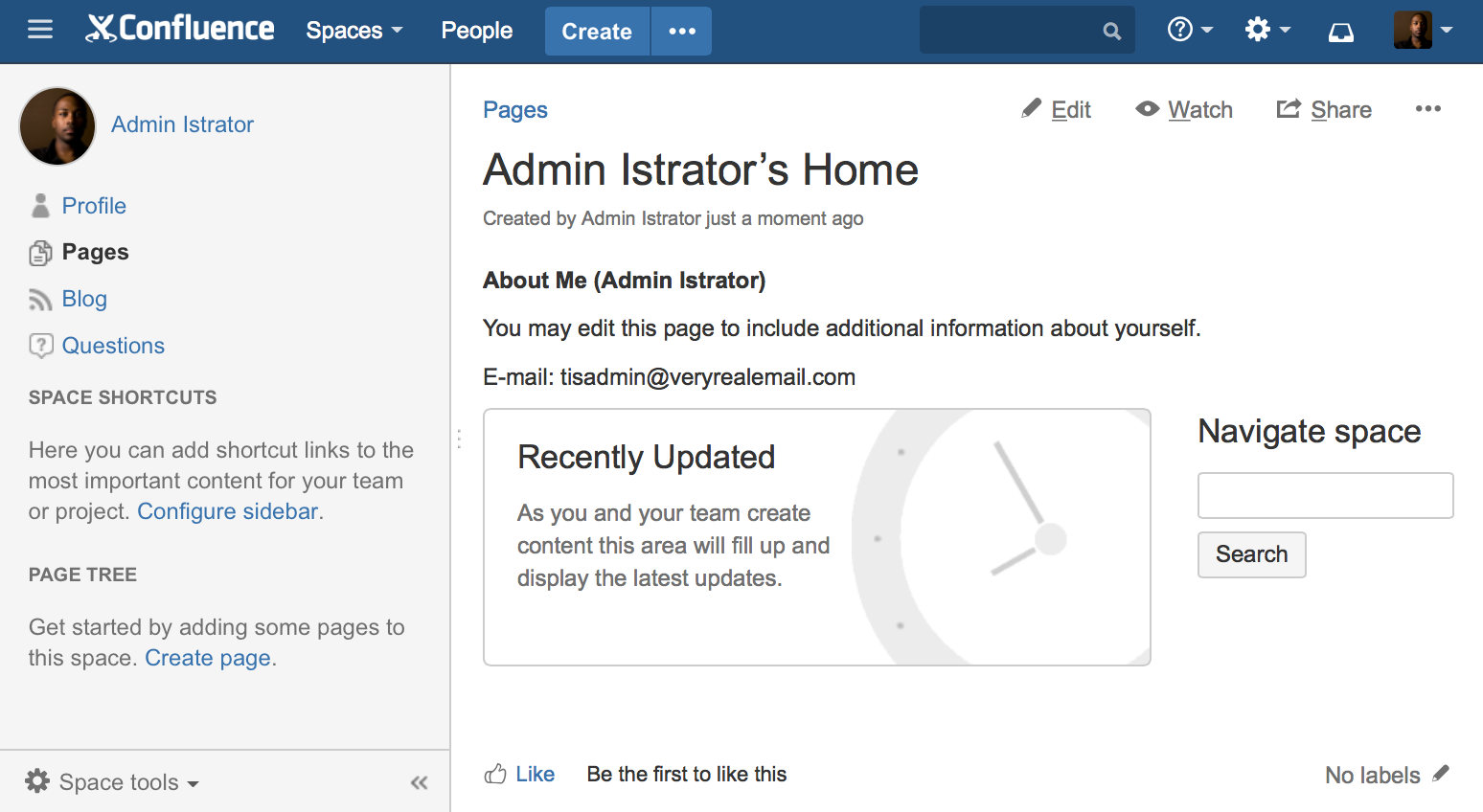 create your personal space atlassian documentation