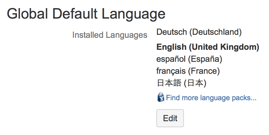 Choosing a default language atlassian documentation other settings that affect the language malvernweather Gallery