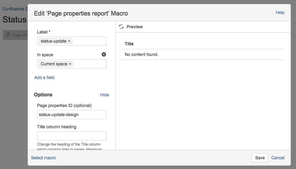 Create A Blueprint Style Report Atlassian Documentation
