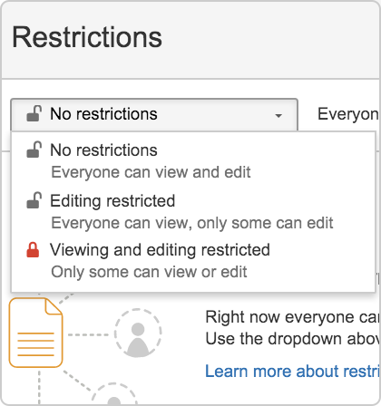 Restrict a page or blog post