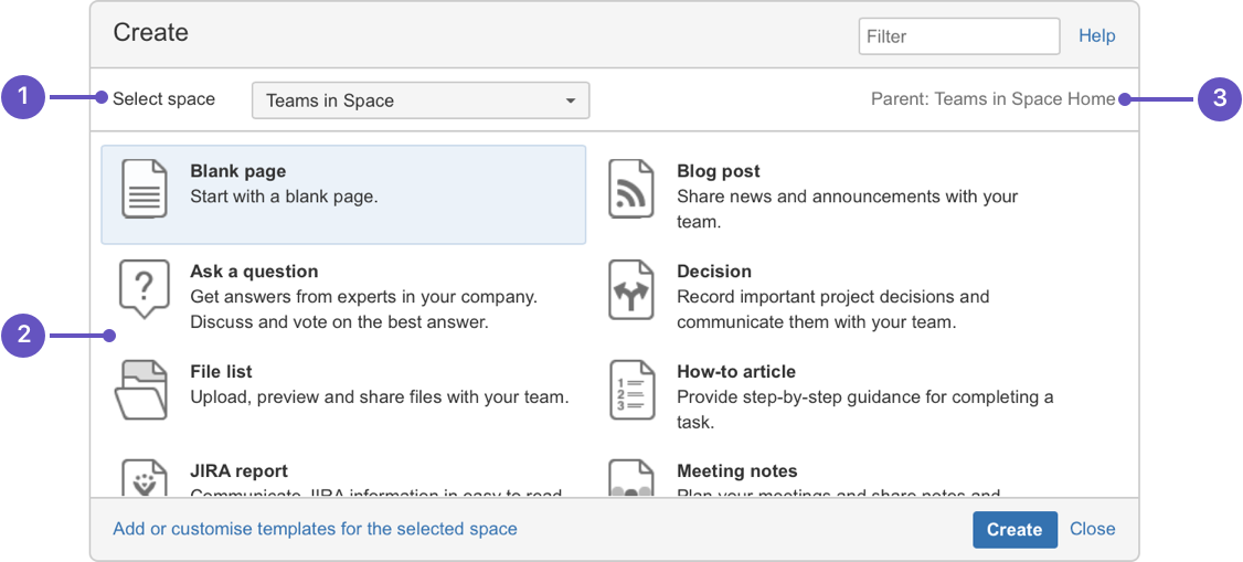 Create and edit pages atlassian documentation create blank page create from template pronofoot35fo Gallery