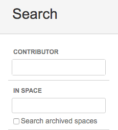 Confluence search archived spaces