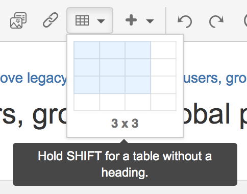 Tables - Atlassian Documentation