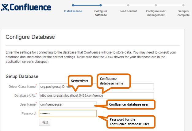 Configuração do banco de dados para PostgreSQL - Atlassian