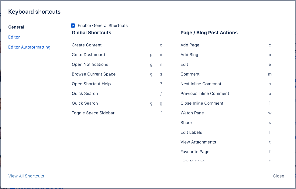 Keyboard Shortcuts Markdown And Autocomplete Confluence Cloud Atlassian Support