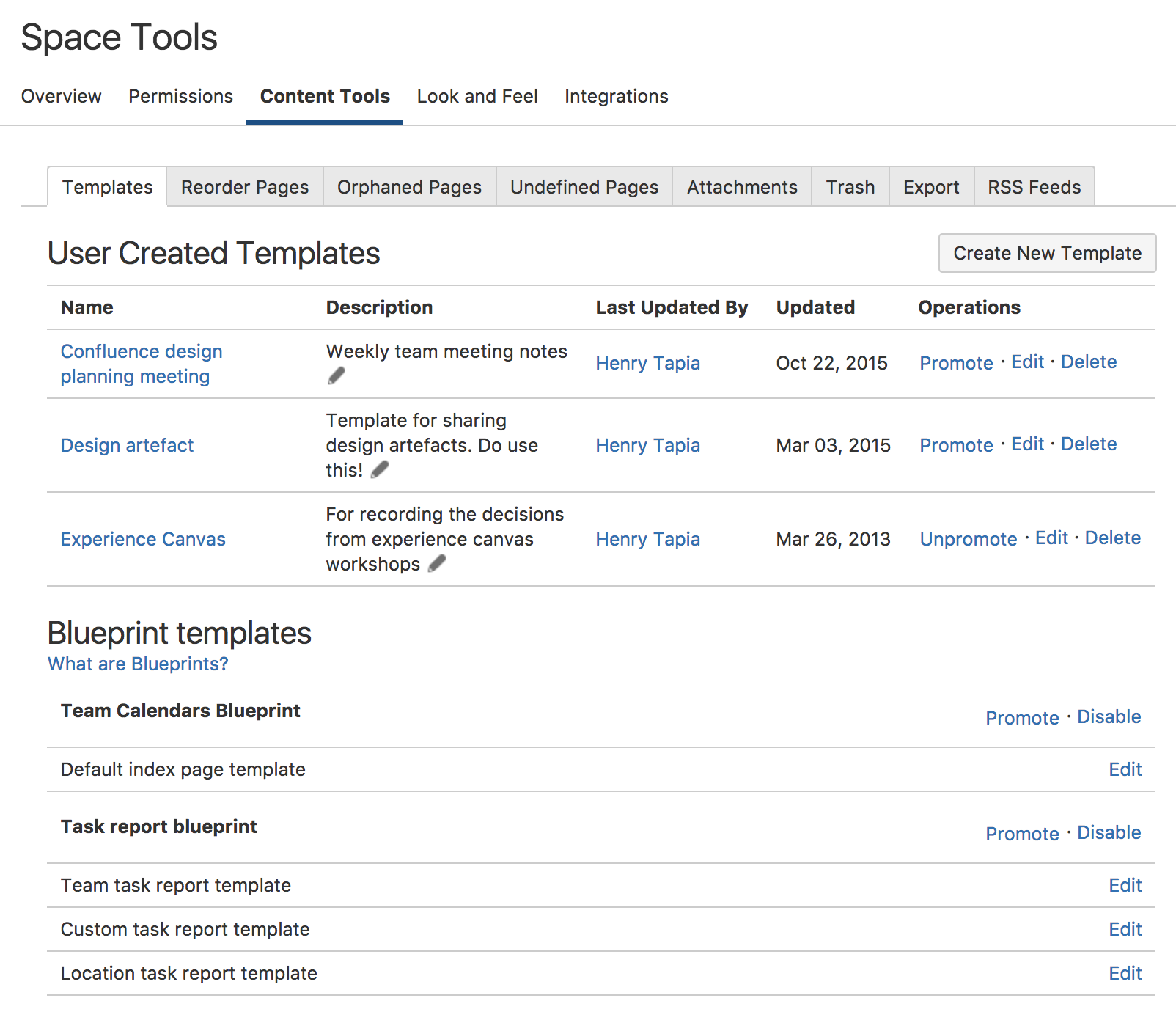 Blueprints And User Created Templates Atlassian Documentation