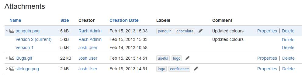 ファイルの管理 アトラシアン製品ドキュメント