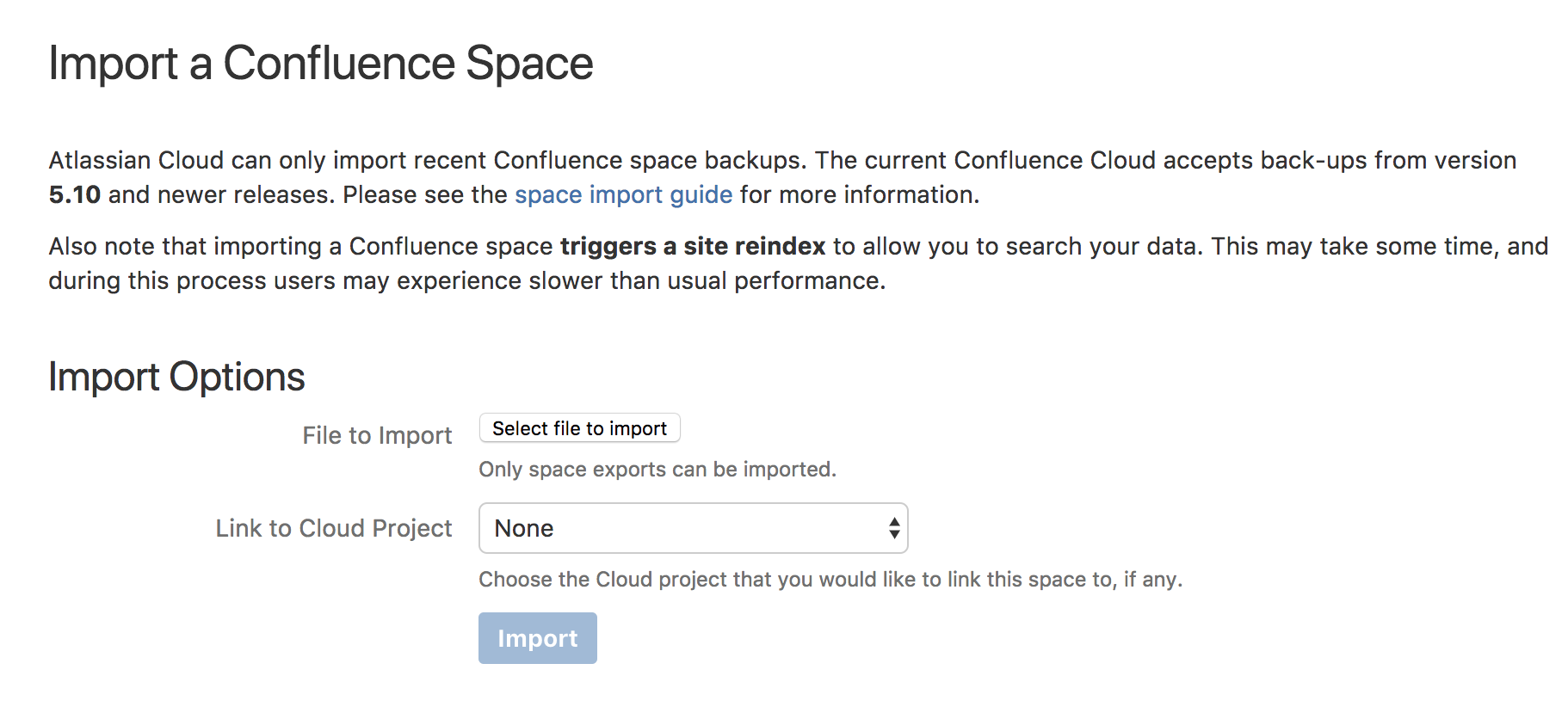 Import A Confluence Space Atlassian Documentation